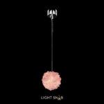 Подвесной светодиодный светильник Roslyn Color цвет розовый