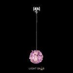Подвесной светодиодный светильник Roslyn Color цвет фиолетовый