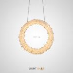 Подвесной светодиодный светильник Roslyn Ring на кольцевом каркасе с абажуром из натуральных хрустальных камней