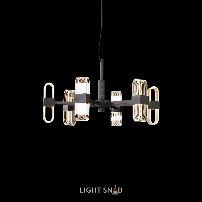 Светодиодная люстра Sense 6 ламп. Цвет черный