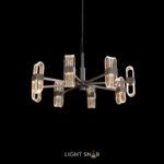 Светодиодная люстра Sense 8 ламп. Цвет черный