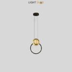 Дизайнерский подвесной светильник Sight цвет черный + латунь