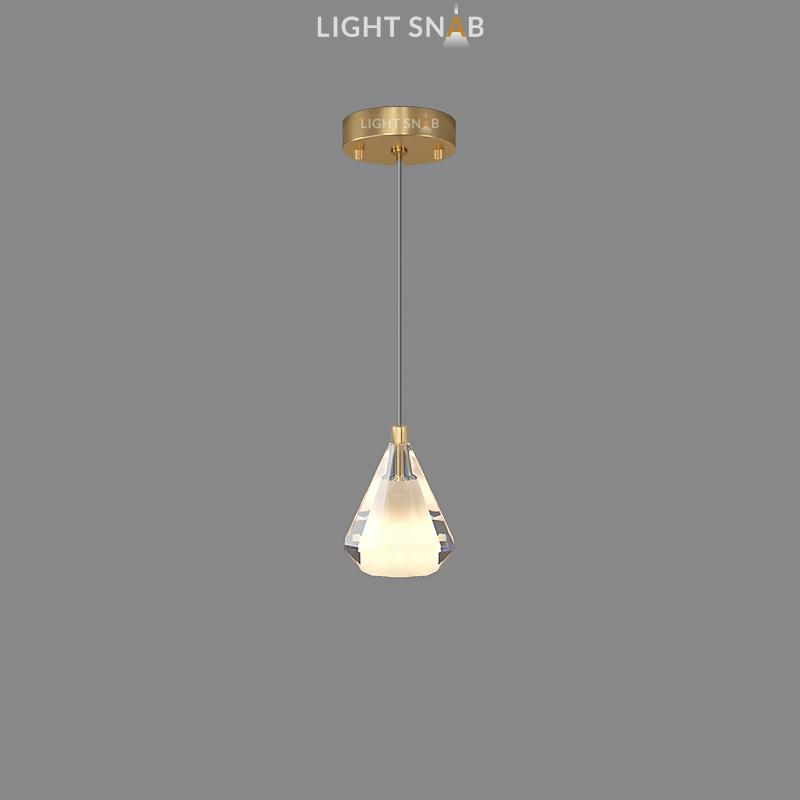 Подвесной светильник Soldis цвет латунь