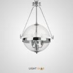 Подвесной светильник Tambelaeg с шарообразным плафоном из прозрачного стекла