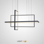 Светодиодный светильник Tilan в виде инсталляция на струнном подвесе