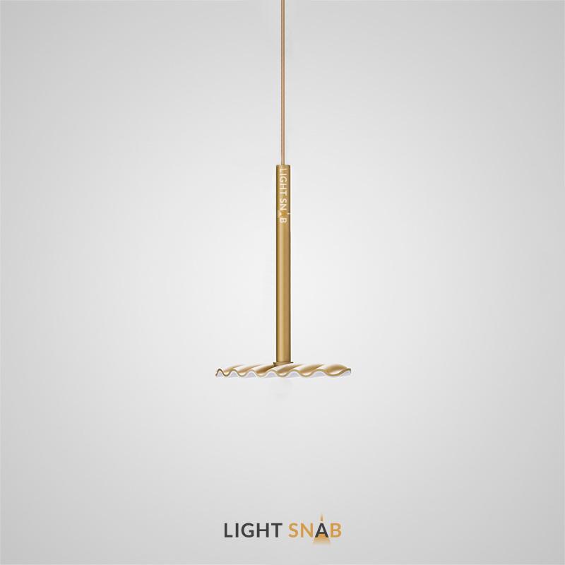 Подвесной светодиодный светильник Tobby цвет латунь