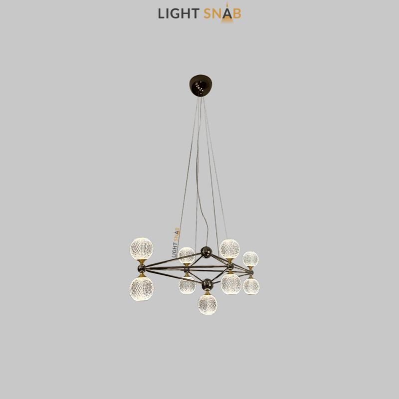 Светодиодная люстра Trenton 9 ламп цвет черный