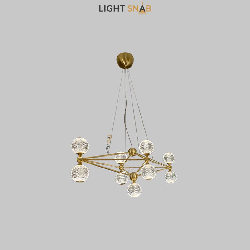 Светодиодная люстра Trenton 9 ламп цвет золото