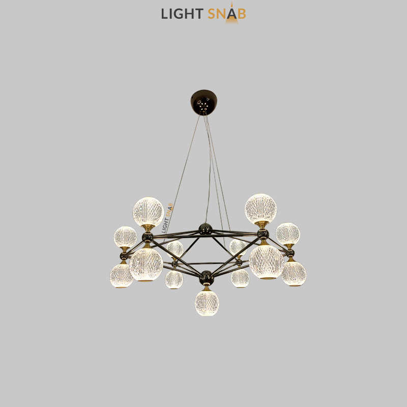 Светодиодная люстра Trenton 13 ламп цвет черный