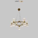 Светодиодная люстра Trenton 13 ламп цвет золото