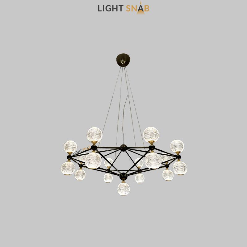 Светодиодная люстра Trenton 17 ламп цвет черный