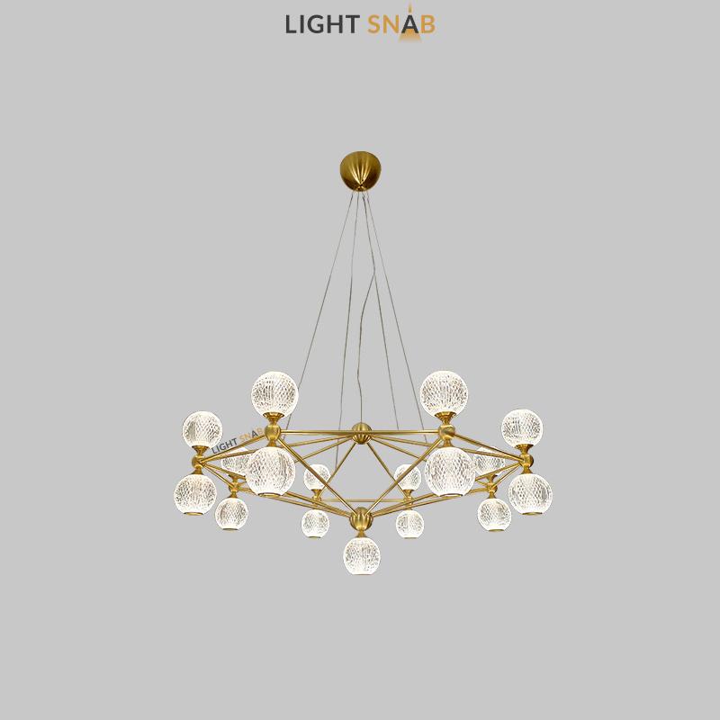 Светодиодная люстра Trenton 17 ламп цвет золото