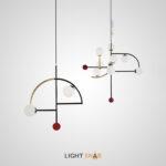 Дизайнерский подвесной светильник Tricky с фигурным каркасом