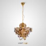 Люстра Verle B 8 ламп. Цвет янтарь