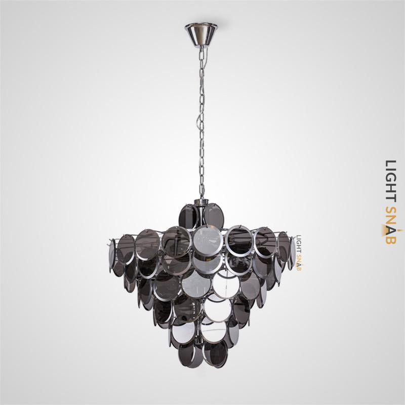 Люстра Verle B 18 ламп. Цвет дымчатый