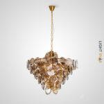 Люстра Verle B 18 ламп. Цвет янтарь