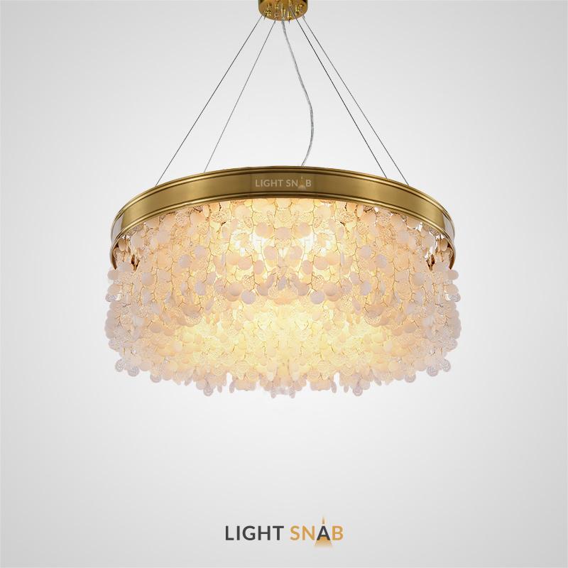 Дизайнерская люстра Verona с плафоном из круглых стеклянных подвесок