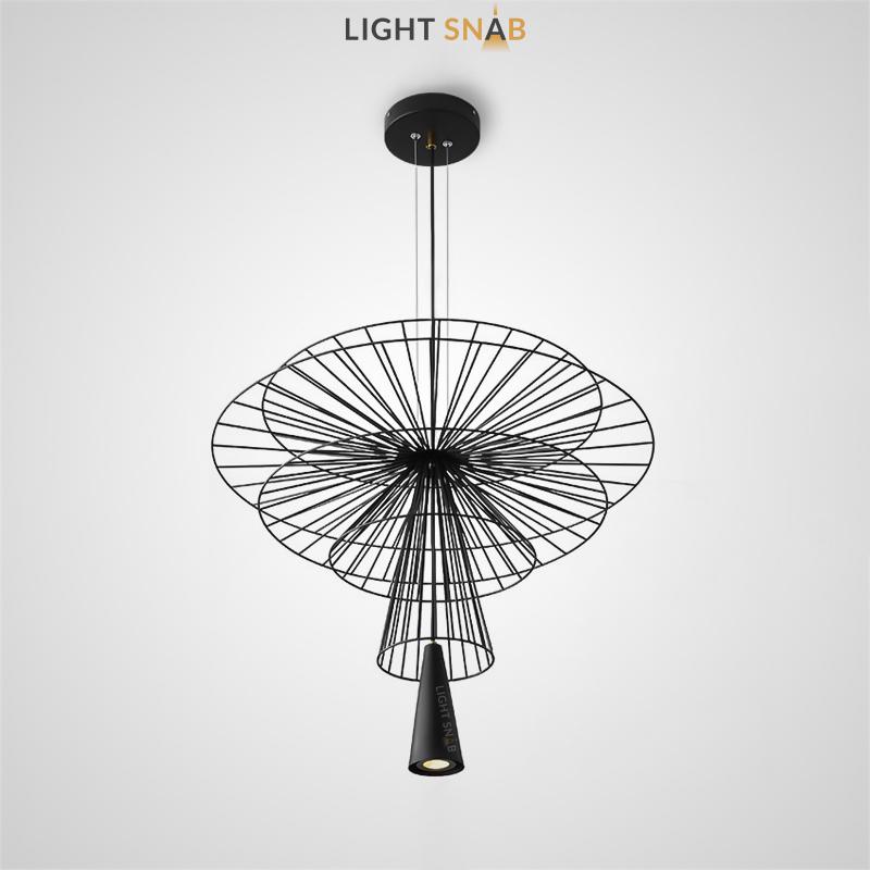 Подвесной светильник Vilbirg с конусообразной плафоном и абажуром из решетчатых дисков