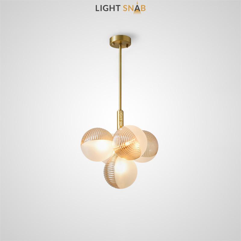 Потолочный светильник Walton More 5 ламп. Цвет янтарь