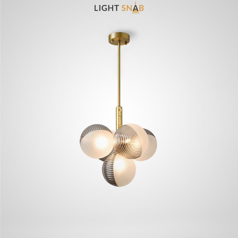 Потолочный светильник Walton More 5 ламп. Цвет дымчатый