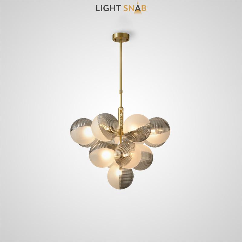 Потолочный светильник Walton More 13 ламп. Цвет дымчатый