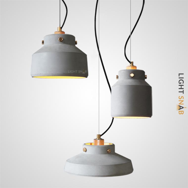 Подвесной светильник Ziel с плафонами из цемента